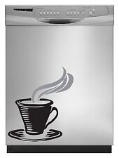 Coffee Cup Decal Sticker for Dishwasher Refrigerator Washing Machine Stove Dorm