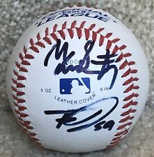 Mallex Smith & Tyrell Jenkins Dual Signed / Autograph Official League Baseball