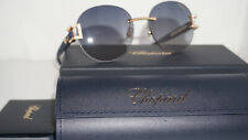 Chopard Sunglasses New Blue Gold Bling Blue Gradient SCH C05S 300K 55 16 140