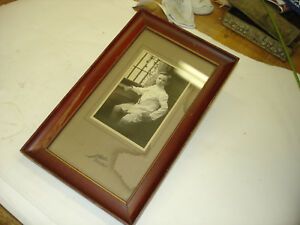 """Old Picture Print Of A Young Boy Well Done Youngstown Ohio Frame 7 1/2""""x12 1/4"""""""
