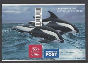 Australia 2009 Hourglass Dolphins Booklet Phil 367909 B424