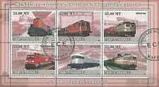 Timbres Trains Mozambique 2608/13 o lot 1102 - cote : 19,80 euros