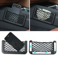 FT- Universal Car Seat Side Back Storage Net Bag Phone Holder Pocket Organizer B