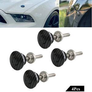 4X Carbon Fiber Look Car Push Button Quick Release Auto Hood Pins Lock Universal