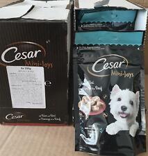 New listing 12 Packs Of Cesar Mini-Joys Dog Treats Cheese 100g Dated 15.02.2020