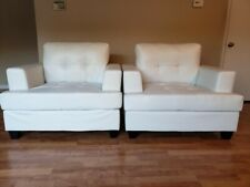 Faux Leather chairs - White