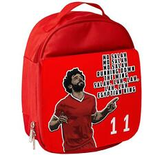 Mo Salah Lunch Bag Liverpool Insulated Boys School Childrens Kids Red Lunchbox
