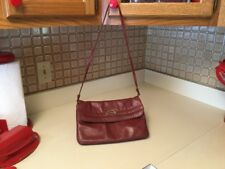 Vintage Etienne Aigner Oxblood Leather Shoulder Strap Handbag Purse