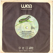 "QUEEN AND DAVID BOWIE - UNDER PRESSURE - RARE OZ 7"" 45 VINYL RECORD 1981"