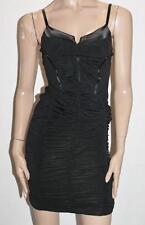 BODY LANGUAGE Paris Designer Black Zip Back Bodycon Dress Size S BNWT #SV73
