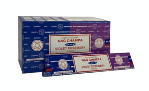 Satya Violet Rosemary Nag Champa Incense Joss Sticks 15g available in 3/12 Pack