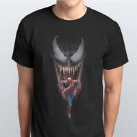 Venom Spider-Man Superhero Black T-shirt Men's Women's Unisex
