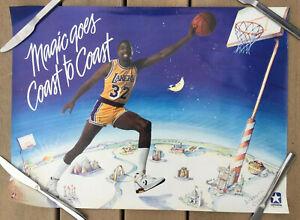 "VIntage 1988 Original ""MAGIC"" JOHNSON ""GOES COAST TO COAST"" Converse L.A. Lakers"
