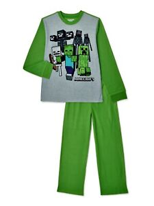 Minecraft Pajama Set 2 Piece PJ Kids Boys Sleepwear Christmas FREE SHIP