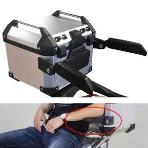 2pcs Motorcycle Folding Tailbox Handrail Box Rear Seat Trunk Passenger Armrest