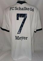 Adidas FC Schalke 04 Trikot Königsblau Gr. XL 7 Meyer Saison 2013 / 2014
