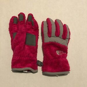 The North Face Pink Fuzzy Gloves Size Medium