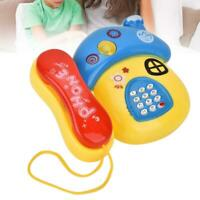 Electronic Educational Baby Cartoon Phone Toy Gift Telephone with Music Light
