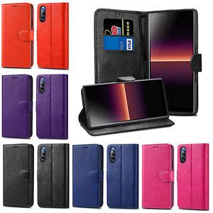 Leather Flip Wallet Case Cover For Sony Xperia 1 5 L1 L2 L3 L4 XA1 XA2 XZ2 XZ3