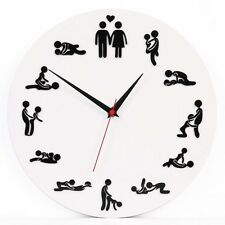 SEX POSITION Horloge/24 H Sexe Horloge/Nouveauté Horloge murale salon