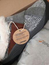 Size 8 JBU by Jambu Light Grey Graham Slip-On MULES w/ Memory Foam Footbed