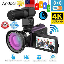 UltraHD 4K 48MP WiFi Digital Video Camera IR Infrared 0.39X Wide Angle Lens V9J6