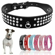 Collar Dog 1pc Black Blue Pink Red Accessory Suede Leather Chihuahua Yorkshire