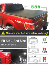 Premium Trifold Tonneau Cover For 09-14 F-150 w/o Utility Track 5.5ft/66in Bed