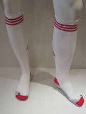 Adidas Rojo Bull Salzbur [Talla 1 / Talla 34-36 ] Blanco Medias de Fútbol Nuevo