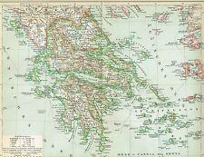 Karte von GRIECHENLAND 1894 Original-Graphik