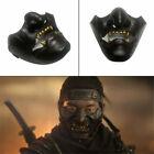Cosplay Ghost of Tsushima Sakai Half Face Samurai Mask Black Halloween Props