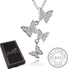 Schmetterling Halskette 925 Sterling Silber Damen +Etui, Schmuckhandel Haak®