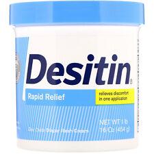 Desitin Diaper Rash Cream Rapid Relief 16 oz 453 g Fragrance-Free,