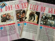 AHA - A Day In The Life of Ahal - Magazine Clippings - Cuttings - 1980's, Ref001