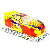 01014 1/10 Scale Nitro Electric Drift Touring Car Body Cover Shell RC Yellow