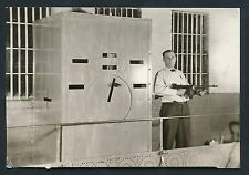 1933 Marion County Jail (Solitary) Guard with TOMMY GUN Vintage Photo DILLINGER!