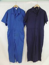 Lot of 2 Walls + Topps USA Men's 46x25 46x26 Blue Short Sleeve Work Coverall