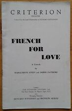 French For Love programme Criterion Theatre 1939 Alice Delysia Cecil Parker