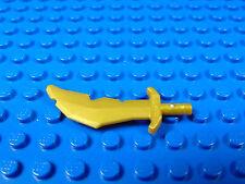 LEGO-MINIFIGURES SERIES NINJA  X 1 PEAR GOLD WORDS SCIMITAR WITH NICKS PARTS