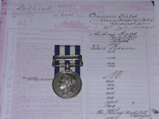 1882 EGYPT MEDAL WITH SUAKIN 1885 CLASP TO MED STAFF CORPS + PAPERS ETC