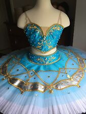 2 Pc. Blue Professional Ballet Tutu Costume On Hoops Odalisque La Bayadere S-M