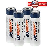 4pcs RAMWAY ER14505 Li-SOCl2 LS14500 AA 3.6V 2400mAh Battery