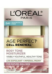*NEW* L'Oreal Paris Age Perfect Rosy Tone Fragrance Free Face Moisturizer-1.7 oz