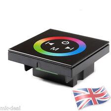 5050 3528 LED Strip Controll Wall Touch Black Glass Panel RGB Dimmer DC 12V 24V