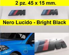 2 x Stemma Laterale M Sport 3D Nero Lucido BMW 45x15 mm ABS adesivo e87 e90 e70