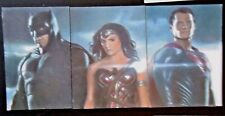 SUPERMAN VERSUS BATMAN AND WONDERWOMAN ORIGINAL 1/1 SKETCH CARDS BY ERIC BELL