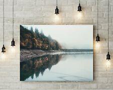 Flames - Ladybower Peak District Landscape Photography Canvas Wall Art Framed