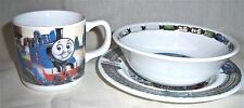 Wedgwood Thomas The Tank Engine Cup Cereal Bowl and Plate Childs Set England