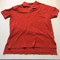 Polo Ralph Lauren Bright Orange Polo Shirt Mens Size Large A396