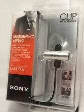 Sony ECM-CS3 Condenser Microphone Clip Omni-Directional Tracking from Japan